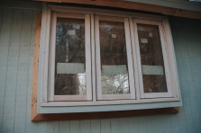 First window trim, done!