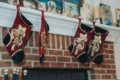 Stockings are hung.