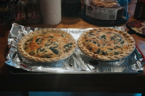 Last Christmas Darnea made quiche for breakfast. I was SO excited to hear that she made it again this year.
